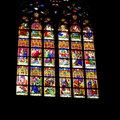 Church stained glass window easter stock photos photo in the dom cathedral koln cologne Royalty Free Stock Image