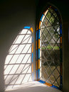 Church Stained Glass Window Light, England. Royalty Free Stock Photo