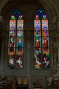 Church stained-glass windows Royalty Free Stock Photos