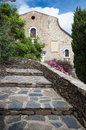 Church and stairs at bormes les mimosas france Stock Image