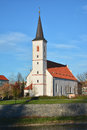 Church strakonice of svata marketa saint marketa south bohemia czech republic Royalty Free Stock Photography