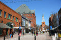 Church Street Marketplace, Burlington, Vermont Royalty Free Stock Photo