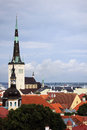 Church tallinn estonia st olaf oleviste view of old Royalty Free Stock Photos