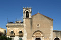 Church in taormina sicily italy small town on the east coast of the island of Stock Images