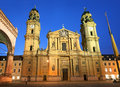 Church theatine of st cajetan at night munich germany Royalty Free Stock Photo