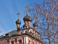 Church theotokos icon kazan stone five domed church built imperial village kotelniki Stock Photo