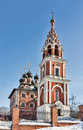 Church theotokos icon kazan stone five domed church built imperial village kotelniki Stock Photography