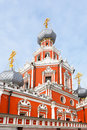 Church of the theotokos icon of the sign in the sheremetev yard moscow russia Royalty Free Stock Photography