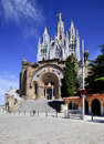 Church on Tibidabo, Barcelona Stock Photography