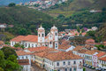 Church in tiradentes minas gerais brazil Royalty Free Stock Photos