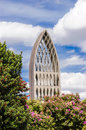 Church tower of the cathedral of osorno chile Royalty Free Stock Photography