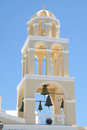 Church tower oia village santorini a in of island greece Royalty Free Stock Photo
