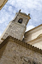 Church tower in the old city of cuenca spain Royalty Free Stock Image