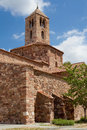 Church tower of santa maria in terrassa romanesque bell belonging to the monumental group churches sant pere catalonia Stock Image