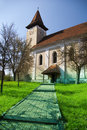 Church tower in transylvanian village Stock Photography