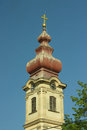 Church tower in vojvodina serbia Stock Image