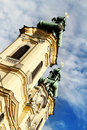 Church towers in Linz Stock Photos