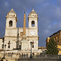 Church of trinita dei monti in rome italy november spanish steps on november tourists relax the famous spanish steps between the Royalty Free Stock Images