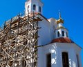Church under construction Royalty Free Stock Photos