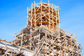 Church under construction Royalty Free Stock Photo