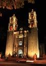 Church in Valladolid Yucatan Royalty Free Stock Photo