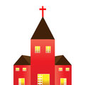 Church a vector illustration of a christian Stock Photography