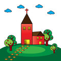 Church a vector illustration of a christian Stock Images