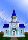 Church vector illustration of the in the divine light Royalty Free Stock Image