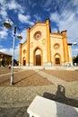 church in villa cortese tower sidewal