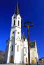 Church at village cernova slovakia march old on march in Stock Photography