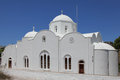Church in the village Kampos on Patmos island Royalty Free Stock Photo