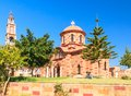Church in the village of Pilon (Pylonas). Rhodes Royalty Free Stock Photo
