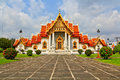 Church at wat benchamabophit in bangkok of thailand Stock Photography