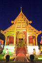 Church at wat phra singh in chiangmai province of thailand Royalty Free Stock Photo