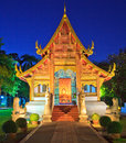 Church at wat phra singh in chiangmai province of thailand Stock Photos