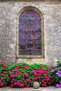 Church window in Brittany Stock Image