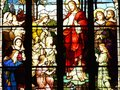 church, window, glass, stained, stained glass, religion, cathedral, mary, religious, christ, architecture, art, faith, god Royalty Free Stock Photo