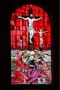 Church Window pane red Royalty Free Stock Photo