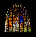 Church windows colorfull glass of a Royalty Free Stock Images