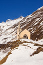 Church in winter alpine landscape Royalty Free Stock Photo