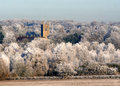 Church in the white winter frosts.