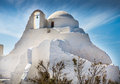 Churches and crosses on the Greek island Royalty Free Stock Photo