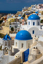 Churches and houses of Oia Royalty Free Stock Photo