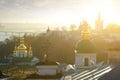 Churches in lavra kyev pechersk winter morning Stock Images