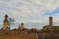 Churches orthodox and catholic in alba iulia romania Stock Photos