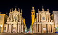 Churches of san carlo and santa cristina in turin italy Stock Images