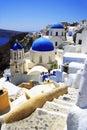 Churches on Santorini Royalty Free Stock Photo