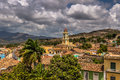 Churches in the skyline of Trinidad, Cuba Royalty Free Stock Photo