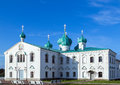 Churches of the transfiguration st alexander of svir monastery and saints zachary and elisabeth leningrad oblast russia Stock Images