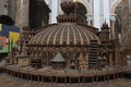 Churches of the world scale model inside saint ignazio church in rome italy church is a roman catholic titular church Royalty Free Stock Image